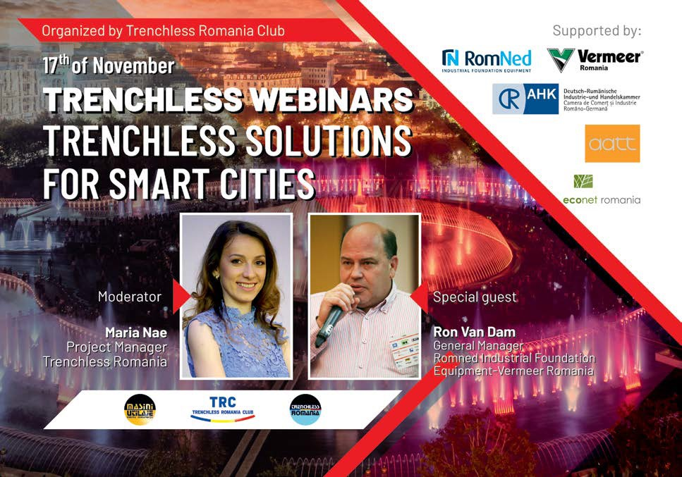 Trenchless Romania Webinar #3 Tehnologii Trenchless pentru Smart Cities