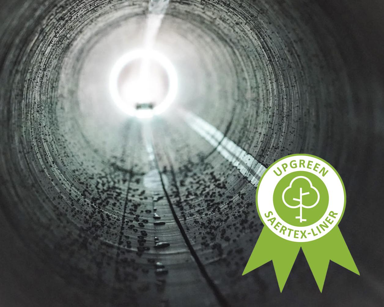 Economii masive de CO2 la producerea căptușelilor de țevi din GRP prin SAERTEX-LINER® UPgreen